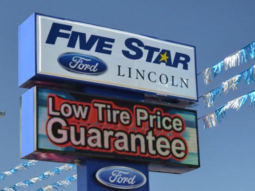 Five Star Ford Warner Robins LED Sign