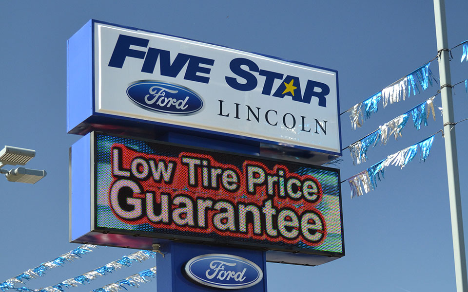Five Star Ford Warner Robins >> Five Star Ford Warner Robins Led Sign Led Sign Displays